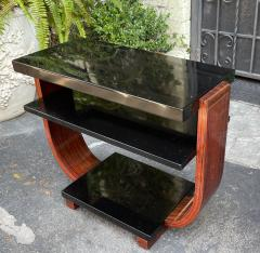 Modernage Furniture Company Vintage Art Deco Macassar Black Lacquer Side Table by Modernage Furniture Co - 2126592