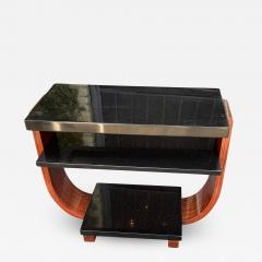 Modernage Furniture Company Vintage Art Deco Macassar Black Lacquer Side Table by Modernage Furniture Co - 2127344