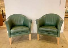 Mogens Hansen Pair of Danish Queen Leather Chairs Lars Kalmar for Mogens Hansen 80s - 1625958