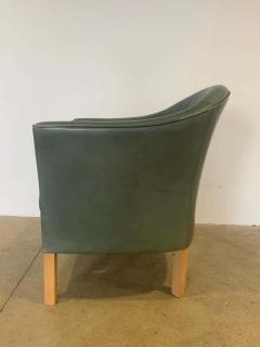 Mogens Hansen Pair of Danish Queen Leather Chairs Lars Kalmar for Mogens Hansen 80s - 1625960