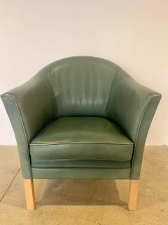 Mogens Hansen Pair of Danish Queen Leather Chairs Lars Kalmar for Mogens Hansen 80s - 1625961