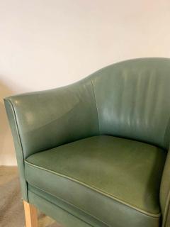 Mogens Hansen Pair of Danish Queen Leather Chairs Lars Kalmar for Mogens Hansen 80s - 1625962