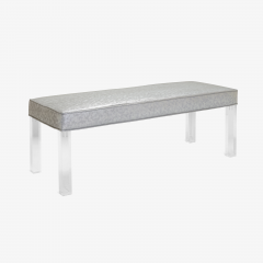 Montage Prism Bench in Sharkskin Motif Leather by Montage - 896105
