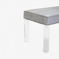 Montage Prism Bench in Sharkskin Motif Leather by Montage - 896108