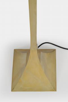Montagna Grillo Brass Pyramid Floor Lamp Italy 70 s - 1480824