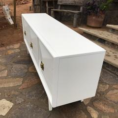 Monteverdi Young 1960s Pristine White Monteverdi Young Nine Drawer Dresser Glamourous Pulls - 1895921