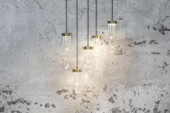 Morghen Studio Ensemble of Brass Light Pendants Cascade - 768700