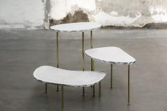 Morghen Studio Modern Fossils Brass and Resin Tables Ensemble - 768713