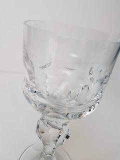 Moser Set of Six Large High End Crystal Goblets by Moser Glassworks - 1318544