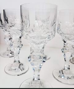 Moser Set of Six Large High End Crystal Goblets by Moser Glassworks - 1318556