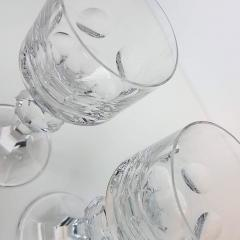 Moser Set of Six Large High End Crystal Goblets by Moser Glassworks - 1318558
