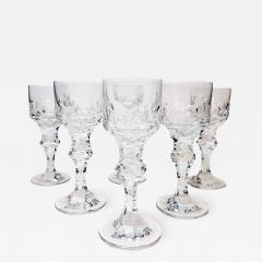 Moser Set of Six Large High End Crystal Goblets by Moser Glassworks - 1320895