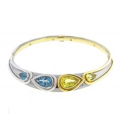 Mouawad Mouawad Blue Topaz and Golden Beryl Necklace and Bracelet Suite - 1264927