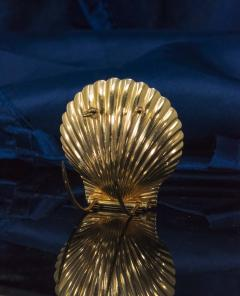 Movado Vintage 1960s Movado Multi Functional Gold Conch Sea Shell Brooch Pendant Watch - 1098118