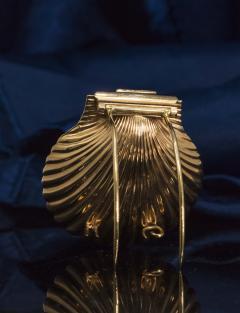 Movado Vintage 1960s Movado Multi Functional Gold Conch Sea Shell Brooch Pendant Watch - 1098123