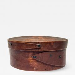 Mt Lebanon Shaker Community Small Shaker Covered Oval Box circa 1890 - 2109386