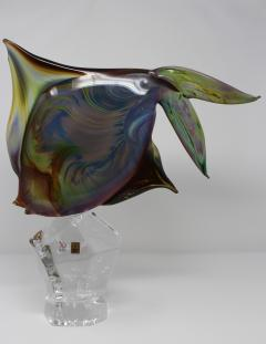 Murano Fantail Murano Glass Fish by Oscar Zanetti - 2137995