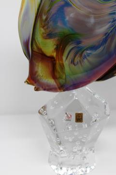 Murano Fantail Murano Glass Fish by Oscar Zanetti - 2137996