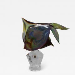 Murano Fantail Murano Glass Fish by Oscar Zanetti - 2139273