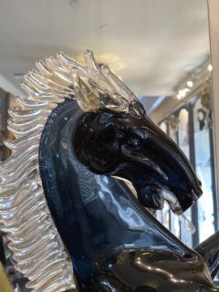 Murano Giant Murano Glass Horse by Oscar Zanetti - 2138018