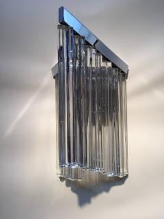 Murano Glass Sommerso Murano Glass Rod Sconces - 110616