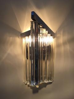 Murano Glass Sommerso Murano Glass Rod Sconces - 110617