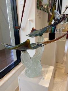 Murano Large Murano Glass Stingrays Sculpture by Zanetti - 2138059