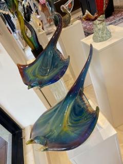 Murano Large Murano Glass Stingrays Sculpture by Zanetti - 2138060
