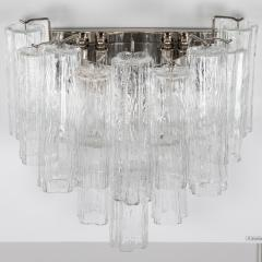 Murano Luxury Glass MGL Two Pairs of Large Murano Tronchi Sconces Circa 1970s - 964581