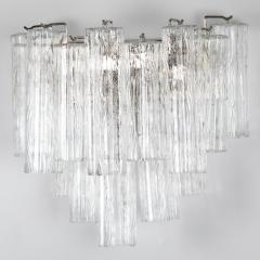 Murano Luxury Glass MGL Two Pairs of Large Murano Tronchi Sconces Circa 1970s - 964585