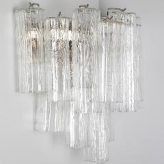 Murano Luxury Glass MGL Two Pairs of Large Murano Tronchi Sconces Circa 1970s - 964589