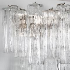 Murano Luxury Glass MGL Two Pairs of Large Murano Tronchi Sconces Circa 1970s - 964592