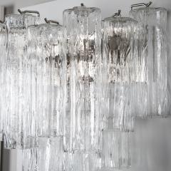 Murano Luxury Glass MGL Two Pairs of Large Murano Tronchi Sconces Circa 1970s - 964598