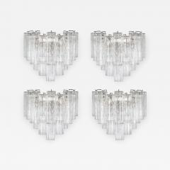 Murano Luxury Glass MGL Two Pairs of Large Murano Tronchi Sconces Circa 1970s - 966937