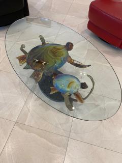 Murano Murano Glass Coffee Table with Turtles by Zanetti - 2138027