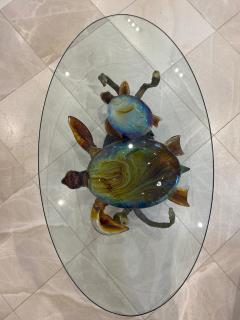 Murano Murano Glass Coffee Table with Turtles by Zanetti - 2138028