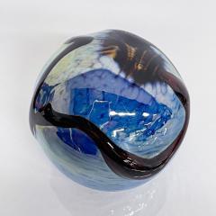 Murano Murano Sea of Blue Art Glass Paperweight Sphere Design Organic Modern 1970s - 2026137