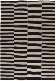 NASIRI Mid Century Modern Style Persian Stripe Flatweave Rug - 1367811