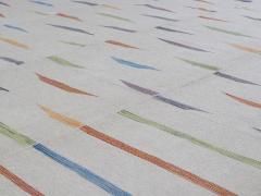 NASIRI Tribal Mazandaran Flatweave Rug in Beige with Multi Color Accents - 1358867