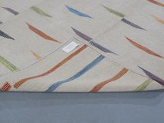 NASIRI Tribal Mazandaran Flatweave Rug in Beige with Multi Color Accents - 1358872
