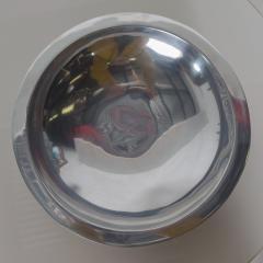 Nambe 1960s Modern NAMBE Bowl Silver Alloy Slanted Serving Dish Santa Fe New Mexico - 1891607