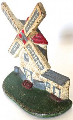 National Foundry Company Cape Cod Windmill Doorstop American Circa 1920s - 679238