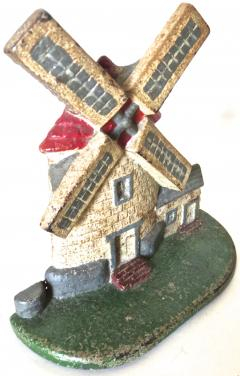 National Foundry Company Cape Cod Windmill Doorstop American Circa 1920s - 679239