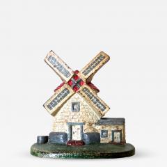 National Foundry Company Cape Cod Windmill Doorstop American Circa 1920s - 787039