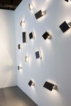 Nemo Lighting Set of 8 Charlotte Perriand Applique Volet Pivotant Red Black Wall Lights - 1634003
