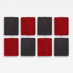 Nemo Lighting Set of 8 Charlotte Perriand Applique Volet Pivotant Red Black Wall Lights - 1636402