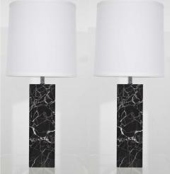 Nessen Studios Nessen Studio Marble Table Lamps in Black Marble - 1370112
