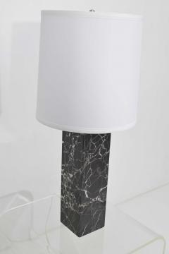 Nessen Studios Nessen Studio Marble Table Lamps in Black Marble - 1370113