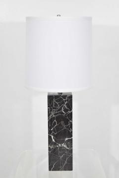 Nessen Studios Nessen Studio Marble Table Lamps in Black Marble - 1370114
