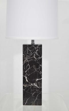 Nessen Studios Nessen Studio Marble Table Lamps in Black Marble - 1370115